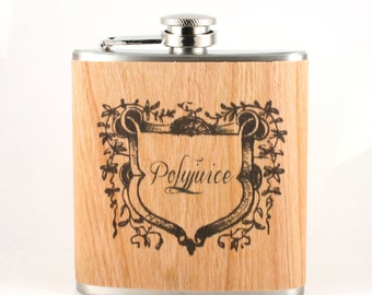 Real wood wrapped Polyjuice Flask- unique gift for Harry Potter fans - potions