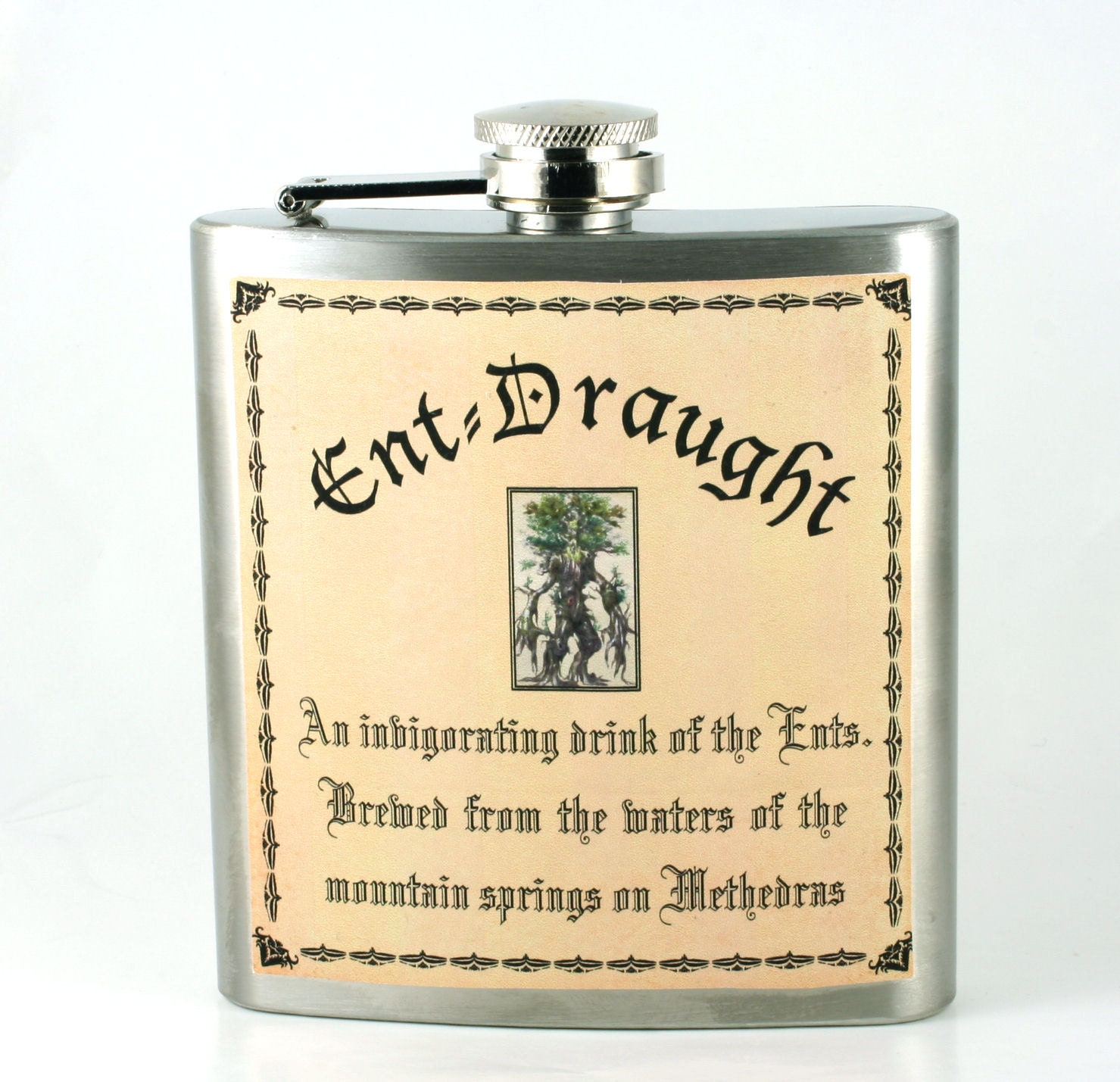 lord of the rings flask ent draught unique gift hobbit