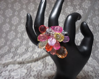 Funky Rainbow Stretchy Ring