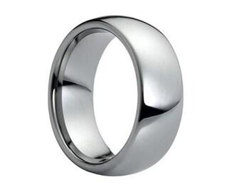 Tungsten Wedding Band,Anniversary Ring,Engagement Band,Tungsten Wedding Ring,His,Hers,Handmade,Men's Tungsten,Ring,Band,7mm