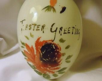 Milk Glass Easter Egg Victorian Hand Blown Milk Glass Large Easter Egg