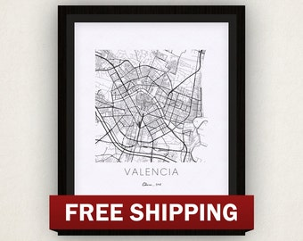 Valencia Map Print