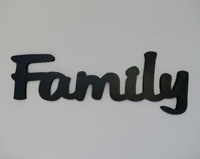 Wooden wall decor word - Family Sign
