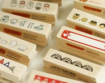Korean Lace Stamp -- Wooden Rubber Stamp -- Diary Stamp -- 1 Piece