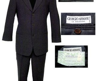 Gray Armani 3 Button Suit / Mod Suit / Mad Men Suit / High Fashion Suit