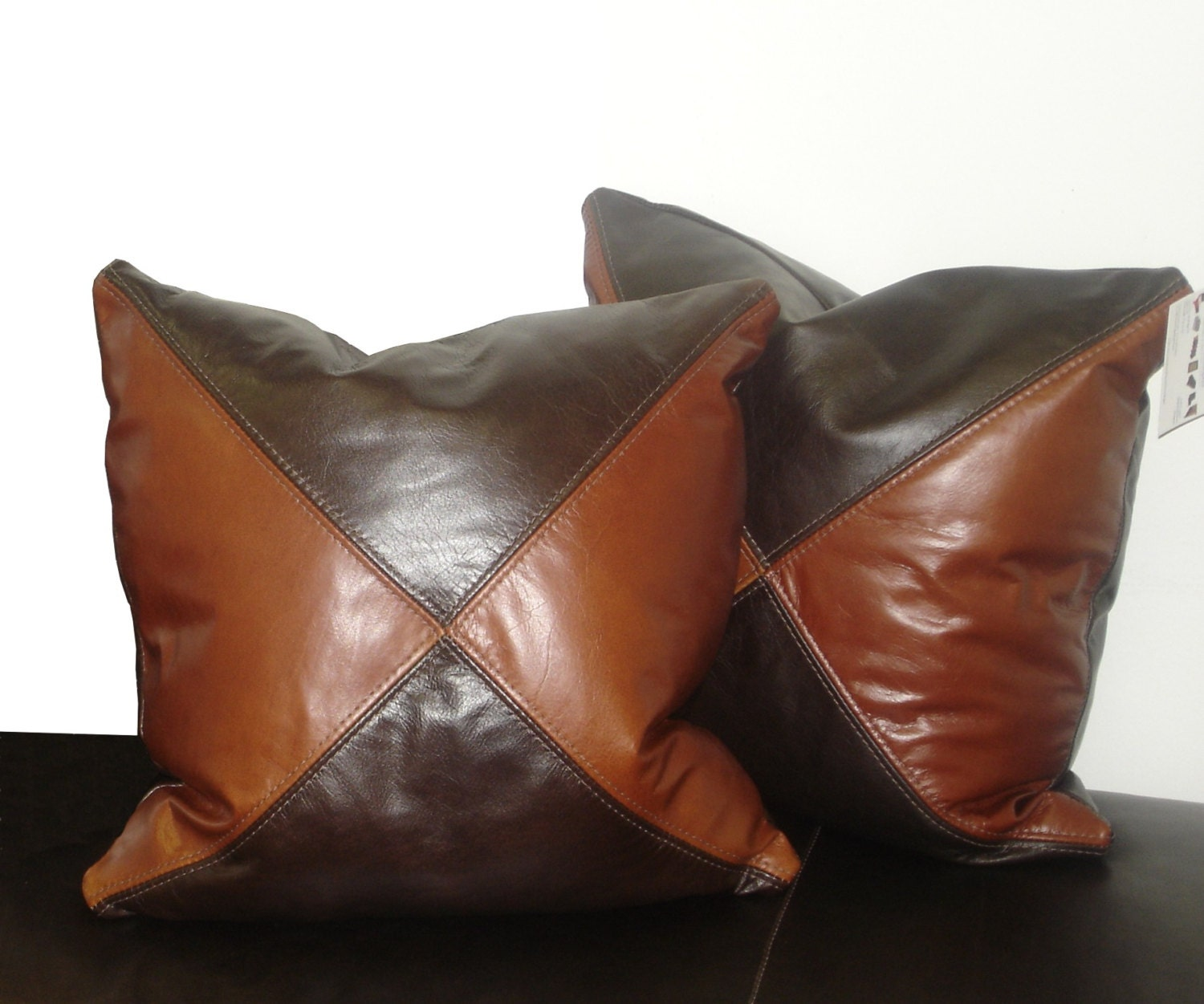 Decorative Pillows Leather : Genuine Leather Accent Pillows Throw pillow 18X18