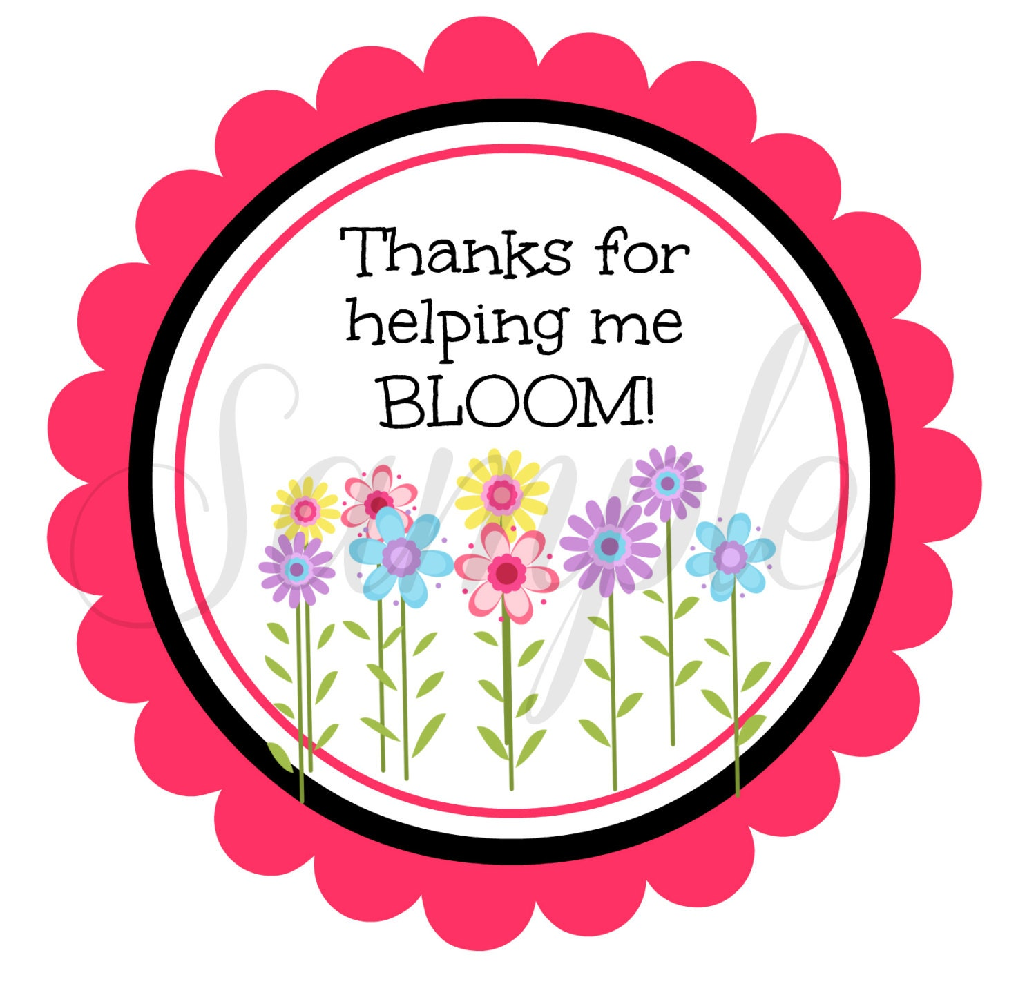 This is a picture of Terrible Thank You for Helping Us Grow Printable