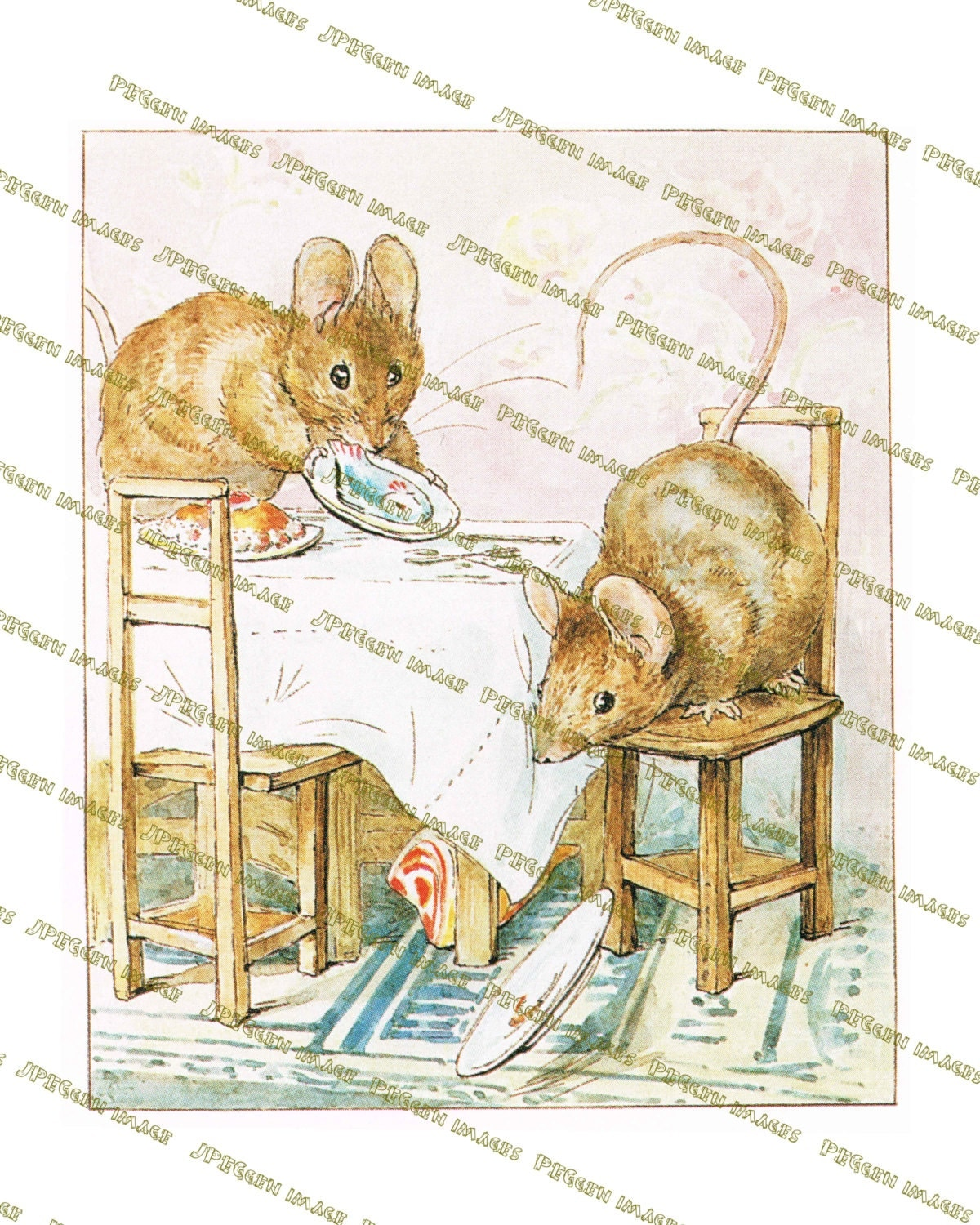 two bad mice whimsical nursery beatrix potter mouse story zoom