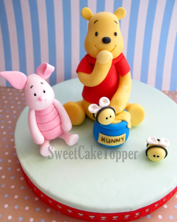 Cake Decorating Gisborne Nz : Winnie the Pooh Inspired Fondant Cake Topper by ...