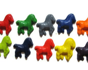 Horse Crayons set of 10 - party favors