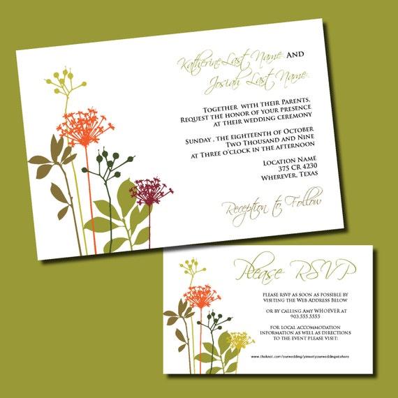 Digital Wedding Invitations With Rsvp Simple Wedding Invitation Rsvp Card Wedding Invite Suite