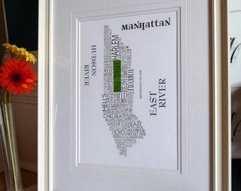 Manhattan Word Map