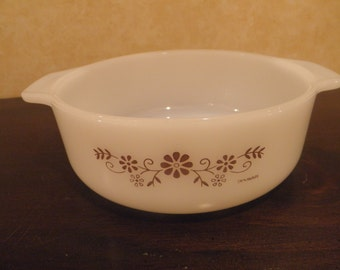 Dynaware Bowl/Casserole with Brown Daisies