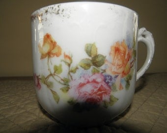 Rose Decorated Mustache Cup