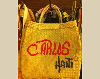 Vintage Handwoven Market Bag