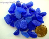 MAIN SAIL Cobalt & Cornflower Blue Sea Glass - Beach Glass PS1818