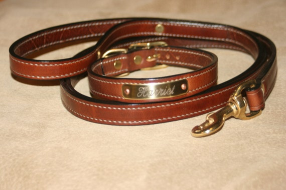 Hill Top Leather, custom-made padded collars with engraved nameplate Il_570xN.424734394_nlv7
