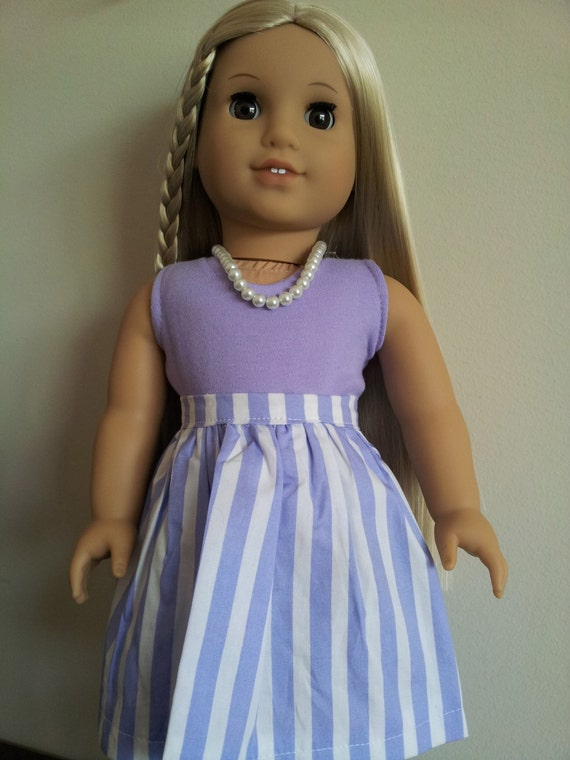 2-Piece outfit and pearl necklacefor American Girl, Our Generation, and other 18 inch dolls