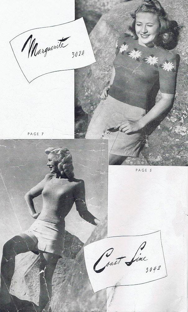 1940s PDF Vintage Knitting Patterns PDF Copy of Sun-glo