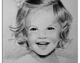 "8"" X 10"" Custom Portrait of Child (pencil)"