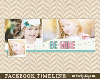 Valentine Facebook Timeline Cover Design Template for Photographers Valentines Day INSTANT DOWNLOAD