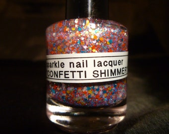 Confetti Shimmer---Handmade/Homemade Glitter Nail Polish