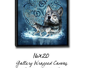 Framed Gallery Wrap Canvas Print - You Choose Image