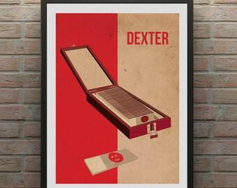 Dexter Inspired Minimalist Trophy Blood Slide box Poster