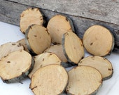 "BEECH WOOD SLICES Tree Cookies 4 - 4 1/2"" Diameter by 1/2 - 3/4"" Thick, Rustic, Woodland, Forest, or Nature Themed Projects - TheRusticWoodshed"