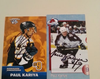 Paul Kariya Autograph Card Set of 2