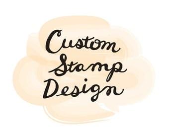 Custom Handmade Wedding Address Stamp (Personalized)