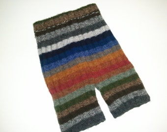 Custom Recycled Wool SHORTIES (upcycled wool sweater baby pants for use as a diaper cover)