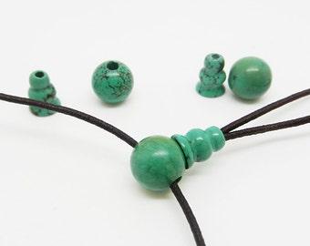 3 x   Green   Turquoise   Guru   Beads  Mala  Making --10MM , 8MM