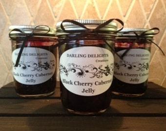Unbelievable Black Cherry Cabernet Sauvignon Wine Jelly