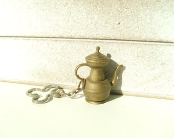 Sale! Vintage Miniature Key Chain Pitcher Kettle Teapot.
