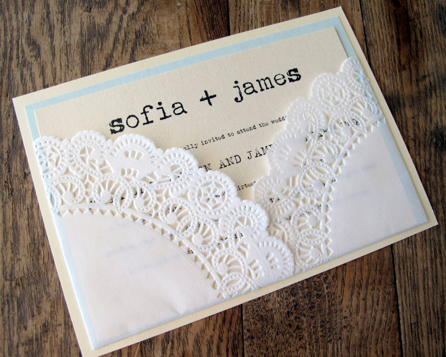 Wedding Invitation Lace: Unavailable Listing On Etsy