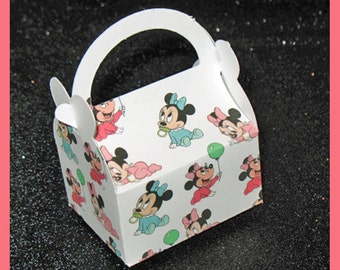 baby mini mouse party favor box, baby mini shower  favor box, baby mini birthday favor box