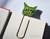 Recycled Bookmark - Gift Ideas - Unique Bookmark -  Green - ZevensProject