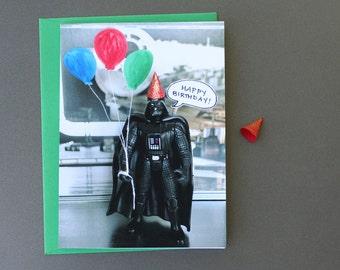 Star Wars Card - Lord Vader Says Happy Birthday - Star Wars Birthday Card