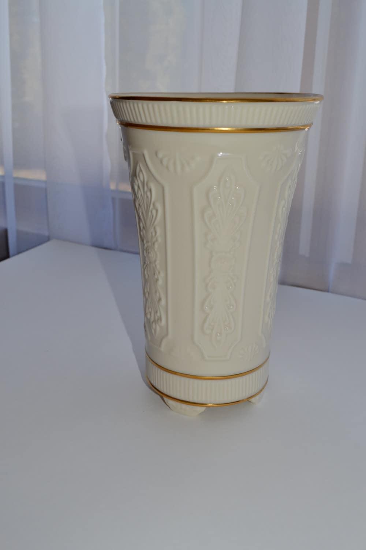 Vintage Lenox Bone China Vase With 24k Gold Trim