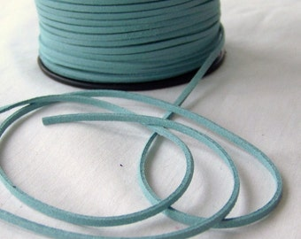 Turquoise Faux Suede Cord 20 Feet USA Seller