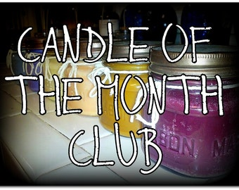 16oz Soy Candle of The Month Club - 1 Year Membership - Valentines Day Gift - Monthly Candles - 12 Month Subscription - Candle Gift Set