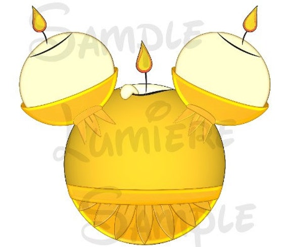 Lumiere Beauty And The Beast Candlestick Inspired Digital