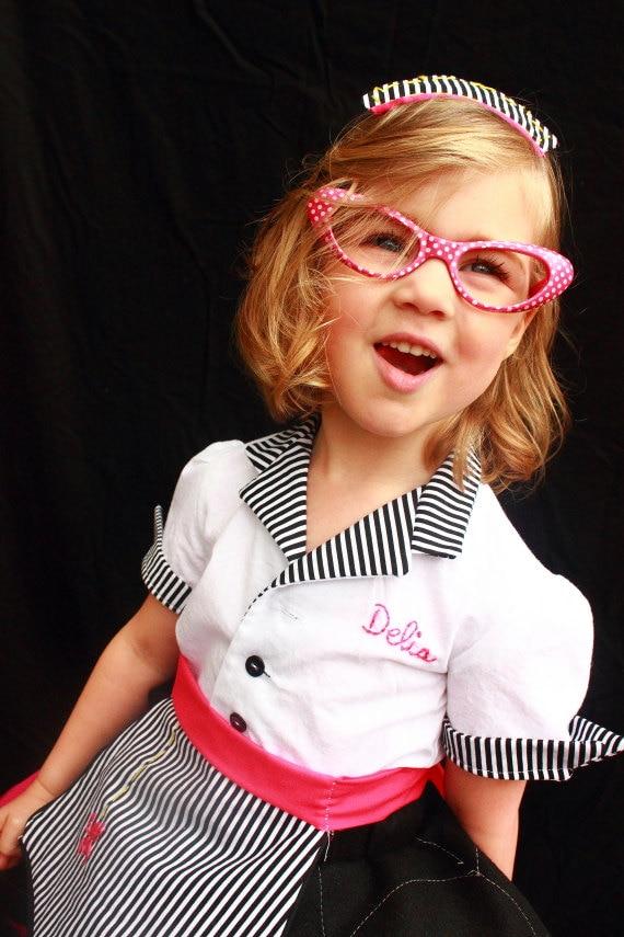 Diner Uniform Costume Diner Waitress Costume