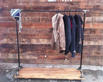 industrial cast iron pipe clothing rack - Metal Clothes Rack