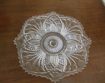 Clear pressed Glass serving Dish