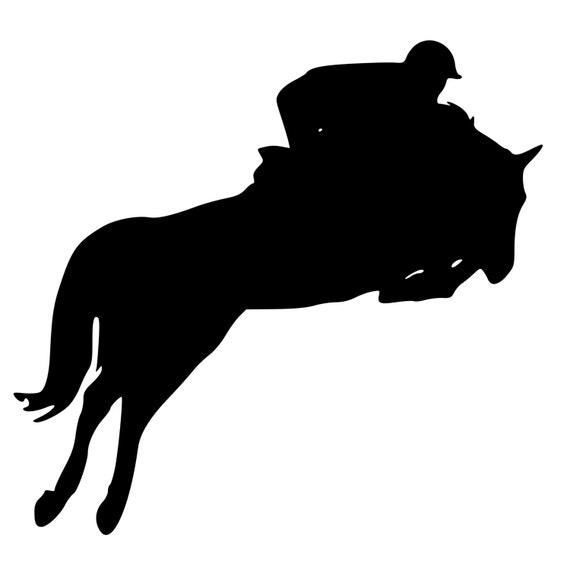 Reining Horse Silhouet...