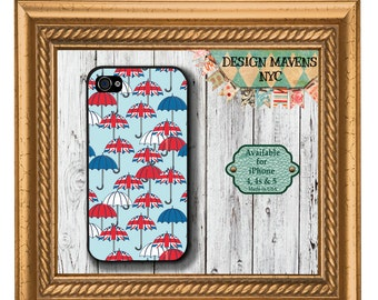 British Umbrellas iPhone Case, Spring iPhone Case, London iPhone Case, iPhone 7, 7 Plus, iPhone 6, 6s, 6 Plus, SE, iPhone 5, 5s, 5c, 4, 4s