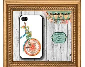 Bicycle Basket iPhone Case, Spring iPhone Case, Plastic iPhone Case, iPhone 4, iPhone 4s, iPhone 5, iPhone 5s, iPhone 5c, iPhone 6