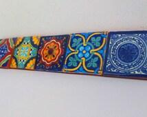 Mexican tile, tribal tile,housewares,colorful,tile, house decor, mexican fiesta